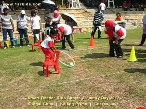 Smart Reader Kids (Pn. Zeha) - Sports Day 2012 - Mr. Coconut Race (5 years old - Group 1)