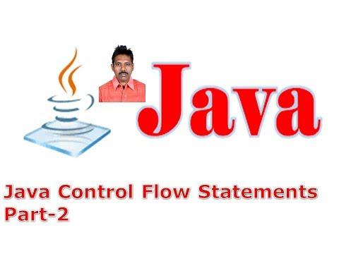 Selenium Class 11 - Java Control Flow Statements Part-2