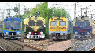 Beautiful DEMU - MEMU - EMU  Trains    Back to back Colorful Trains of INDIAN RAILWAYS