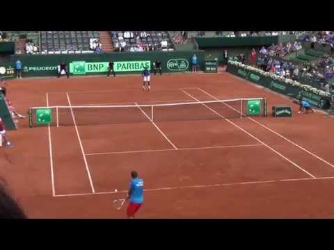 Gael Monfils from a cool angle