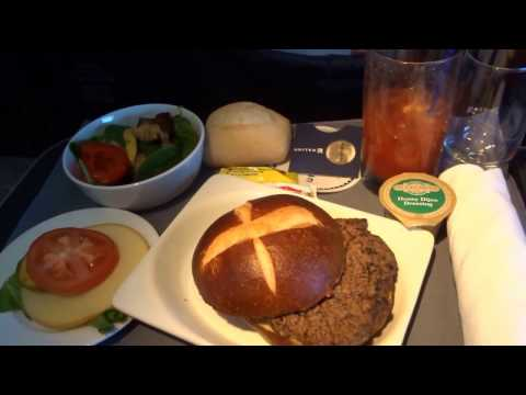 Denver - Vancouver flight UA323: 1st-Class lunch over Rockies, Grand Teton, Mt. Baker 2017-01-28