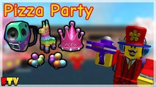 HOW TO GET ALL THE PIZZA PARTY EVENT ITEMS ON ROBLOX!