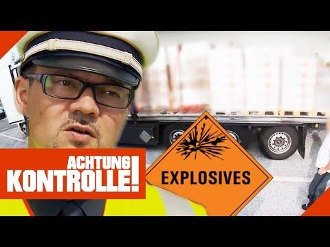 LKW voller ungesichertem  Sprengstoff! Polizei entsetzt!   Achtung Kontrolle   Kabel Eins