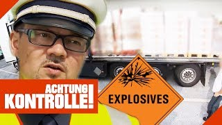 LKW voller ungesichertem  Sprengstoff! Polizei entsetzt! | Achtung Kontrolle | Kabel Eins