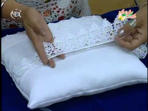 Coj n para anillos de novios youtube - Como confeccionar cojines para sofas ...