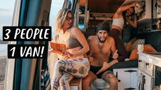 3 PEOPLE LIVING IN A VAN | Van Life Morocco | Eamon & Bec