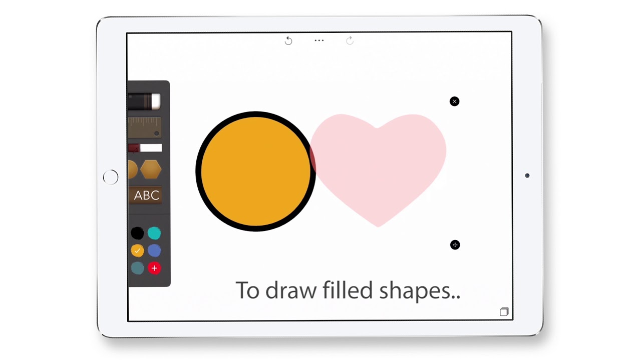 Drawing Desk App How To Use The Shape Tool Youtube