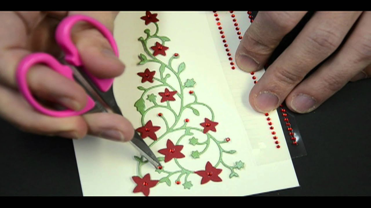 Card Making Ideas Tips Projects Part - 39: Memory Box Flowering Christmas Tree Card