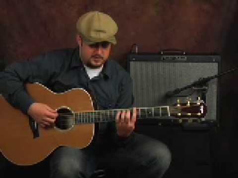 Beginner EZ Acoustic blues rhythm guitar lesson on a Taylor