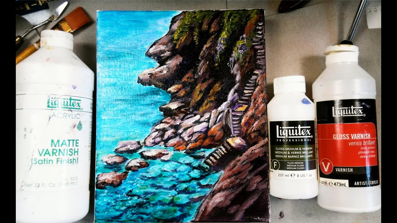 How To Varnish Your Acrylic Painting Tips And Tricks Youtube