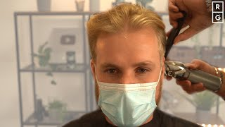 Guy With Fine Blonde Hair Gets The Haircut He Wanted