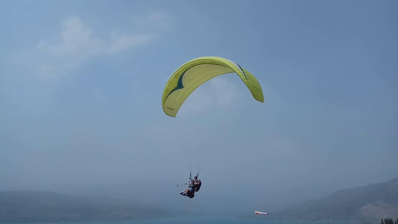 Чарвак с высоты птичьего полета. Полет на параплане. Узбекистан. Савичева - Полет.