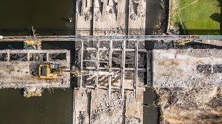 Remont starego mostu w Ostrołęce