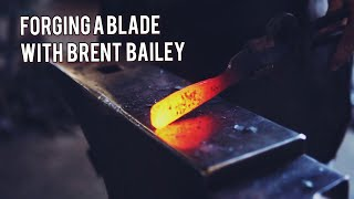 Forging a blade on the anvil- anvil forging with Brent Bailey