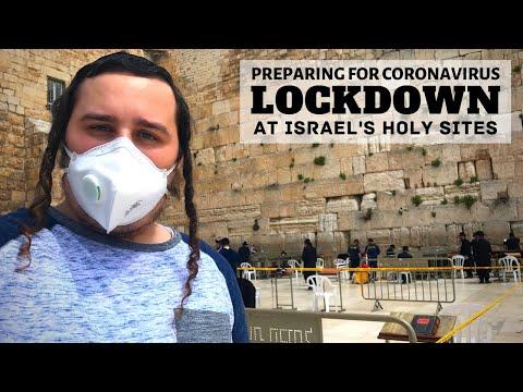 CORONAVIRUS LOCKDOWN AT ISRAEL'S HOLY SITES