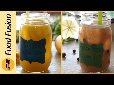 Mango and Falsa iced Green Tea By Food Fusion