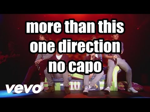 more than this one direction lyrics and chords