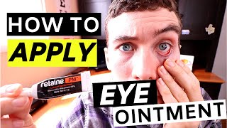 🔴eye Ointment   How To Apply Eye Ointment (simple)