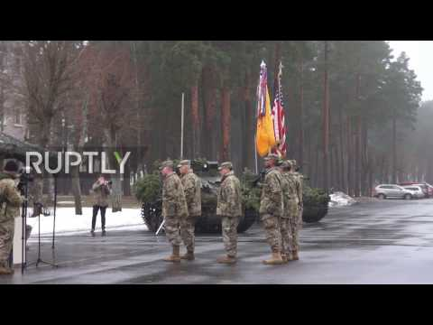 Latvia: US Army Troops And Armour Welcomed At Adazi Ceremony