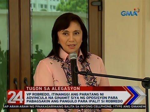 24 Oras: VP Robredo, itinanggi ang paratang ni Advincula na ginamit siya ng oposisyon...