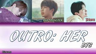 BTS - Outro: Her | Sub (Han - Rom - Español) Color Coded Letra