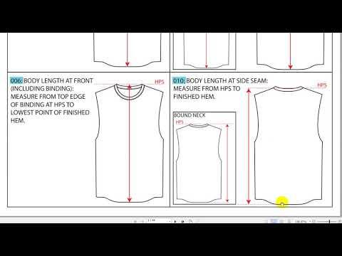 Hướng dẫn cách đo tất cả thông số áo và quần, cách hiểu và dịch bảng thông số tiếng Anh