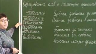 Образование слов с помощью приставки