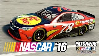 NASCAR 16 UPDATE (FINALLY) FOR NASCAR 15 VICTORY EDITION (YES REALLY) GAMEPLAY