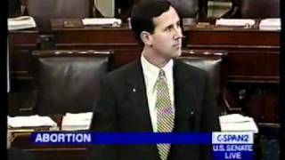 Republican Presidential Candidate Senator Rick Santorum Debating to Ban Partial Birth Abortions 1999