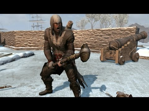 Assassin's Creed 3 Baltimore Outfit & Stonehead War Club Brutal Finishing Moves/Counter Kills
