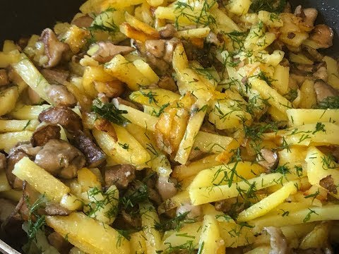 Как приготовить маслята с картошкой на сковороде