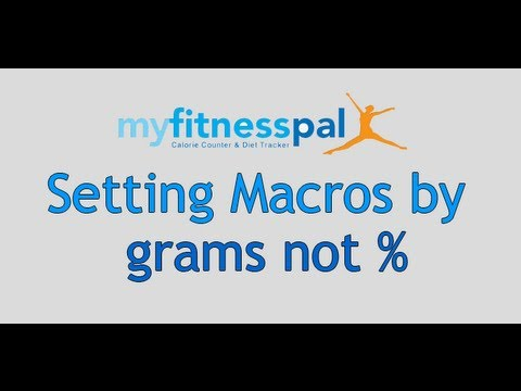 How to Change your Macros on My Fitness Pal - LDN Muscle