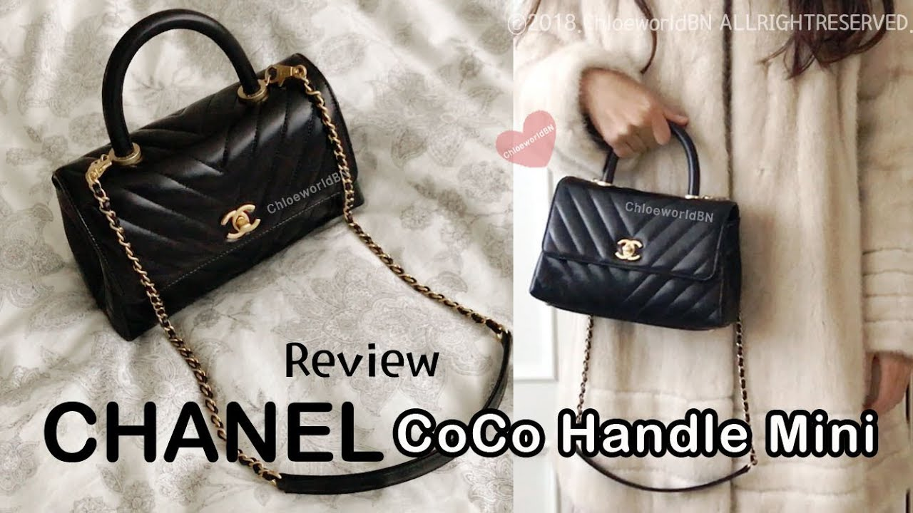 e04487d03aa6d3 CHANEL CoCo Handle Mini Flap Bag Review, What Fits Inside?, Wear and Tear,  Pros and Cons, Mod Shots