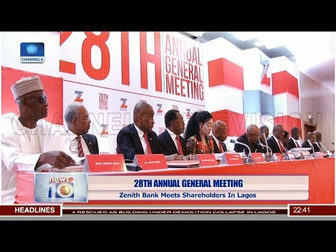 28th AGM: Zenith Bank Meets Shareholders In Lagos
