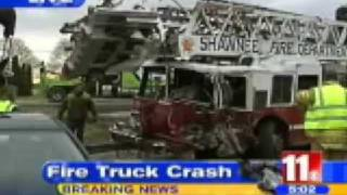 Fire truck crash in Wood County, Ohio.