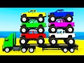 LEARN COLORS w Monster Truck & Learn Numbers for Kids w Cars Cartoon Learning Video