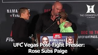 UFC Vegas Post-Fight Presser: Namajunas, VanZant, Chiesa, Northcutt, Means, Santos, Sterling