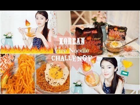 ♡ KOREAN FIRE NOODLE CHALLENGE [ENGLISH SUB] ♡Thử Thách Ăn Mì Siêu Cay Của Hàn Quốc ♡ mattalehang