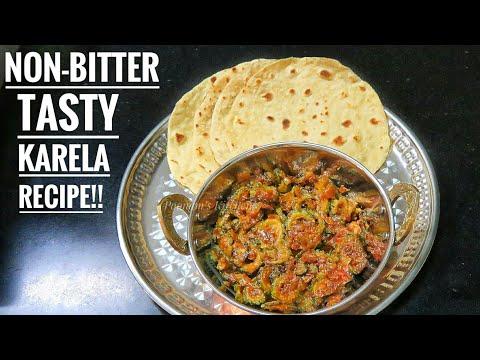 Chatpati Karela Sabzi Recipe (NO BITTERNESS) - Karele ki Recipe in Hindi - Tasty Karela ki Bhaji
