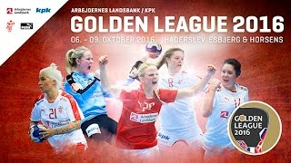 Danemark VS France Handball Golden League féminine 2016 2017 1er tour