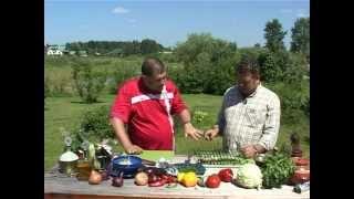 Бараньи ребрышки и курица с овощами на открытом огне - невероятно вкусно!