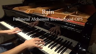Repeat youtube video Rain(レイン) -Fullmetal Alchemist Brotherhood OP5 -シド(SID)  piano