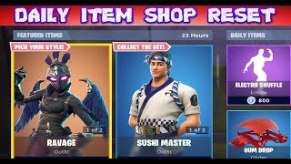 FORTNITE - DAILY ITEM SHOP RESET ( OCTOBER 1ST ) NEW SKINS AND EMOTES - LIVE COUNTDOWN