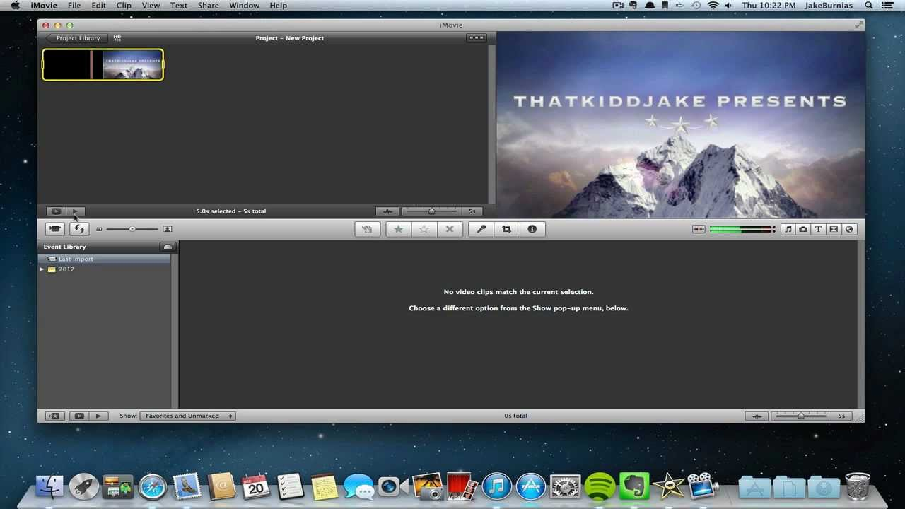 Make intros with imovie youtube for Imovie intros templates