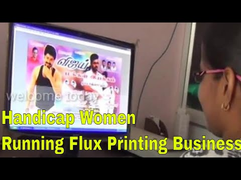 Handicap Women Successfully Running Jeyam Flux Printing Busi
