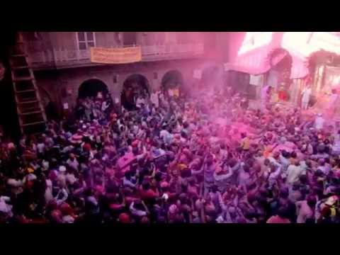 Holi Festival 2014 -  Banke Bihari temple - Vrindavan