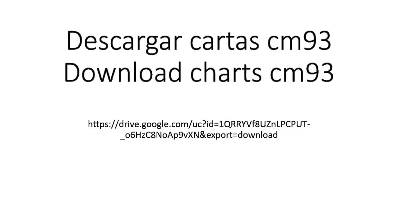 Descargar cartas cm93 / Download nautical charts cm93