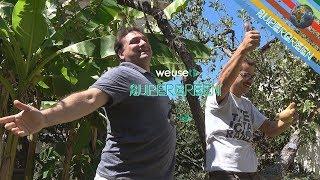 Simone detto il Bocca de IlBoccaTv & Chef Stefano Barbato nel giardino di Supergreen