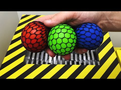 Thumbnail: EXPERIMENT Shredding vs Anti Stress Balls