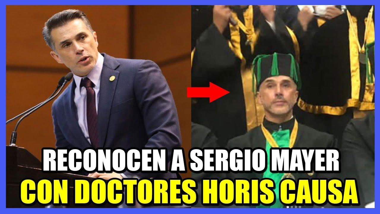 SERGIO MAYER PRESUMIÓ DOCTORADO HONORIS CAUSA Y LE LLOVIERON CRÍTICAS EN REDES SOCIALES😱😱